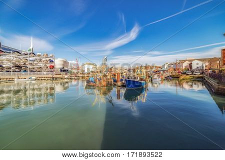 The Camber and Spice Island in Old Portsmouth