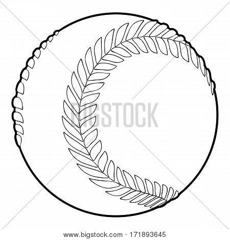 Baseball ball icon. Outline illustration of baseball ball vector icon for web