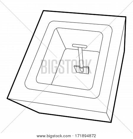 Dug grave icon. Outline illustration of dug grave vector icon for web