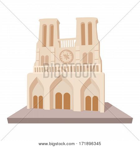 French castle icon. Cartoon illustration of french castle vector icon for web