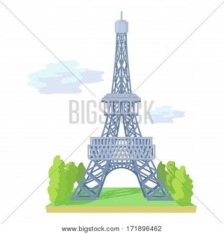Eiffel tower icon. Cartoon illustration of eiffel tower vector icon for web