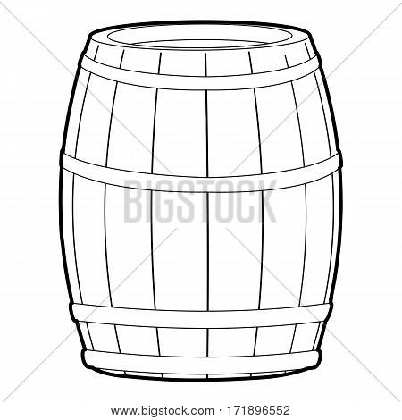 Wine barrel icon. Outline illustration of wine barrel vector icon for web