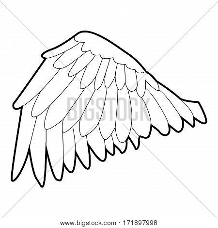 Goose wing icon. Outline illustration of goose wing vector icon for web