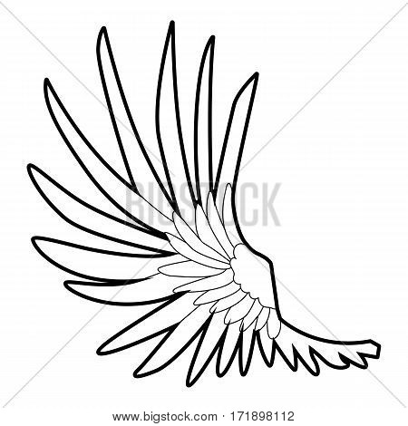 Wide wing icon. Outline illustration of wide wing vector icon for web