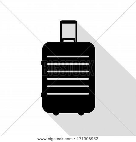 Baggage sign illustration. Black icon with flat style shadow path.