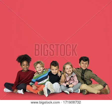 Little Children Together Hangout Smiling
