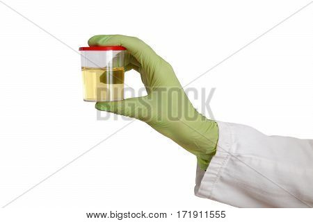 Doctor Hold Urine Sample