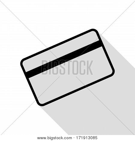 Credit card symbol for download. Black icon with flat style shadow path.