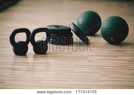 Weights And Medicine Ball Collection