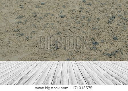 Wood Terrace And Sand Texture