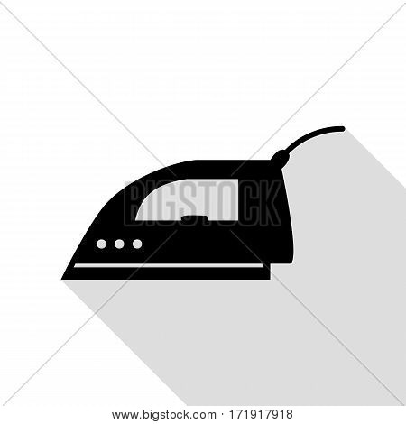 Smoothing Iron sign. Black icon with flat style shadow path.