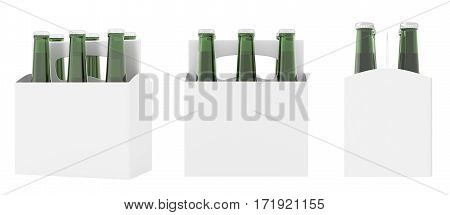 Set Of Six Bottles White Beer Packaging