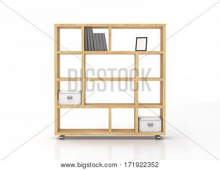 Bookcase Shelves Isolated