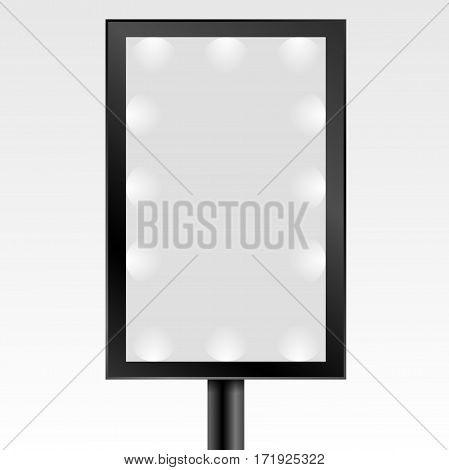 Mock Up Empty Blackl Bilboard Vector Illustration Eps 10
