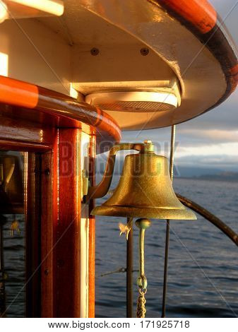 Ship Bell on a Historic Tug Boat on the Pacific Coast