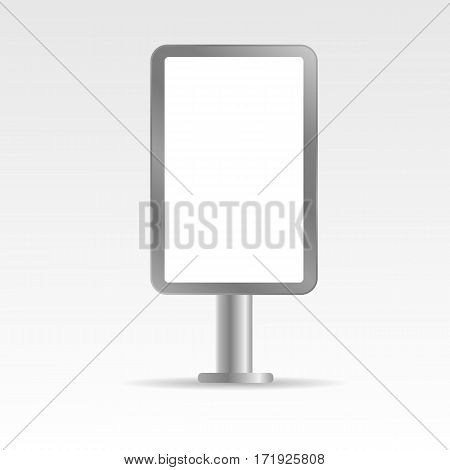 Mock Up Empty Metall Bilboard Vector Illustration Eps 10