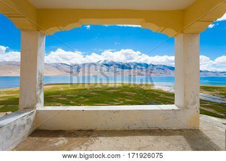 Ladakh Tso Moriri Lake Balcony Viewpoint Framed