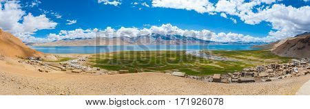 Ladakh Tso Moriri Lake Panoramic View Hilltop