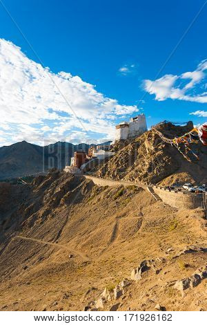Leh Tsemo Fort Gompa Valley Mountains Ladakh V