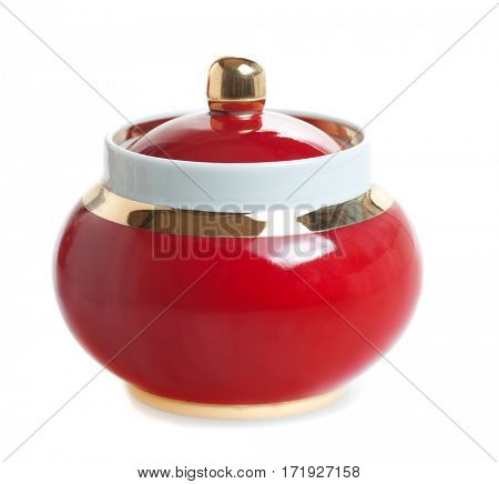 sugar bowl isolated on white background