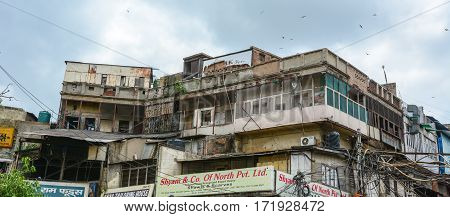 Old Buildings In Old Delhi, India