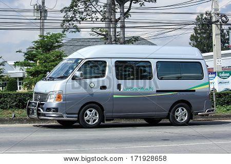 School Bus Van Of Maejo University. Nissan Urvan