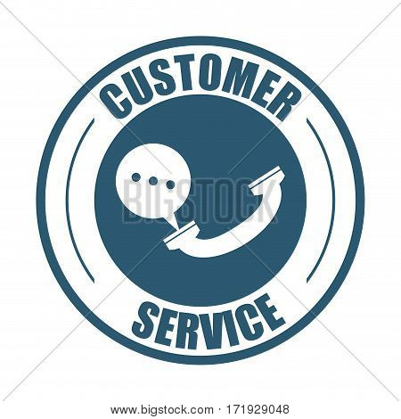 customer service telephone bubble speech vector illustration eps 10