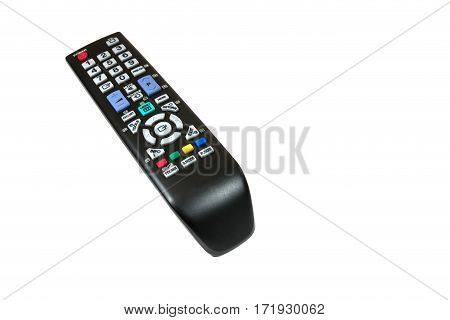 The remote controal for TV isolated on white background