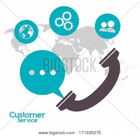 customer service telephone call center vector illustration eps 10