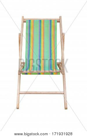 wood beach chairs various colors isolated on whte background