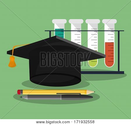 set school science utensils vector illustration eps 10