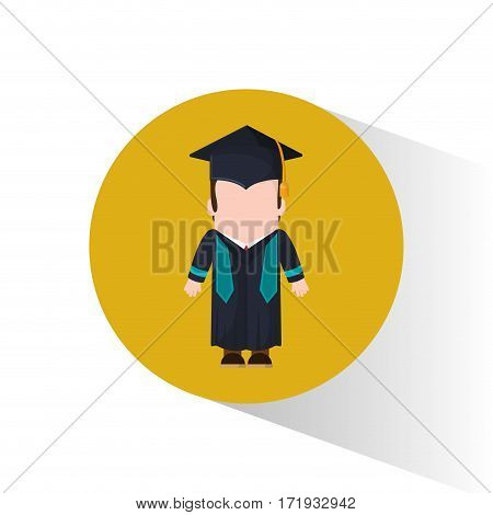 graduate student cap and gown vector illustration eps 10