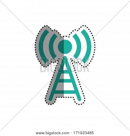 Wifi zone antenna icon vector illustration graphic design