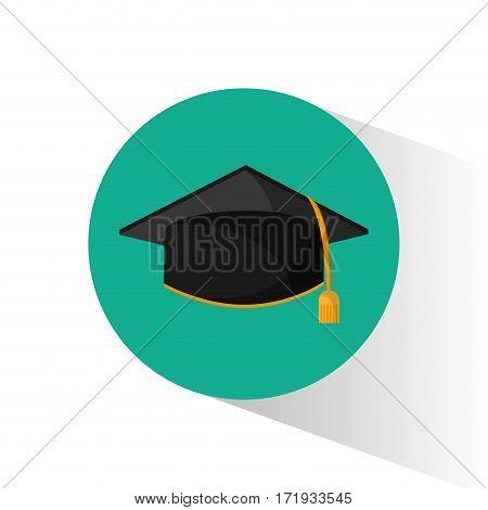 graduation cap education shadow vector illustration eps 10