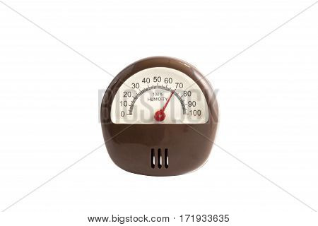 The hygrometer a isolated white background, clipping part