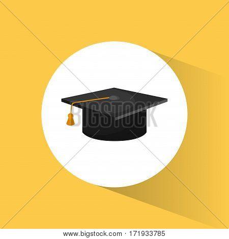 graduation cap education symbol vector illustration eps 10