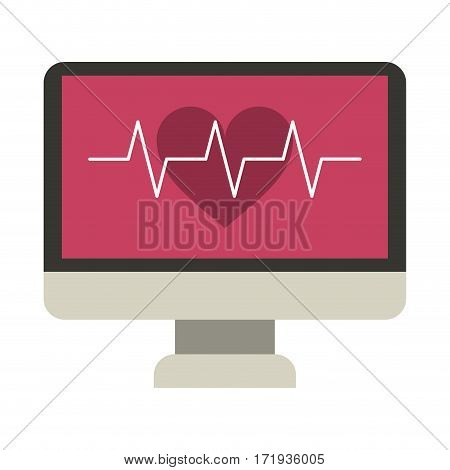 monitor heartbeat cardiology rhythm vector illustration eps 10