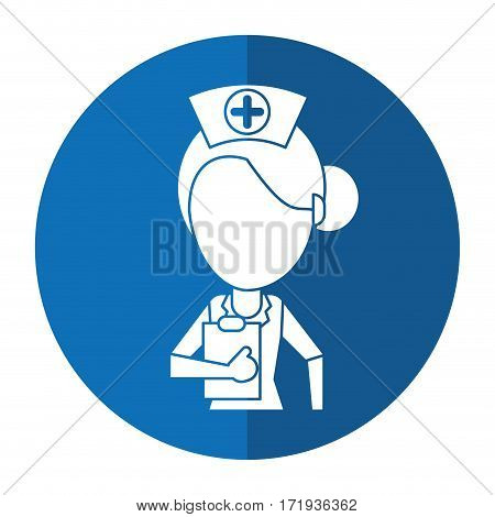 nurse work hospital clipboard shadow vector illustration eps 10