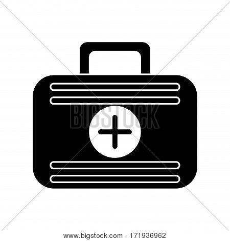 first aid case medical emergency pictogram vector illustration eps 10