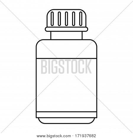 medicine bottle capsule icon thin line vector illustration eps 10