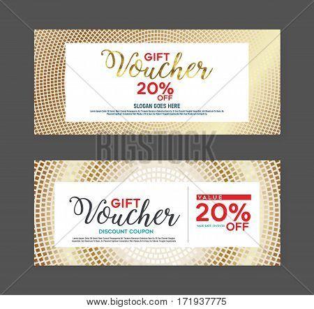 Gift voucher design template. Designed with elegance.