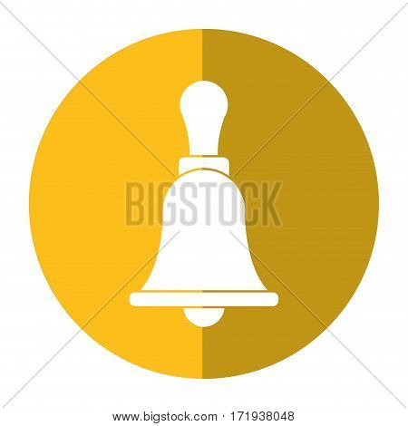 retro school bell handle shadow vector illustration eps 10