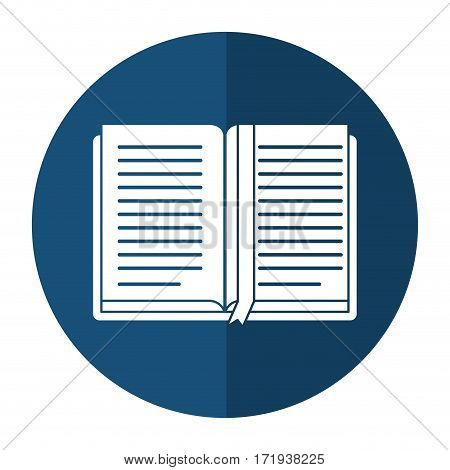 open book school learning shadow vector illustration eps 10