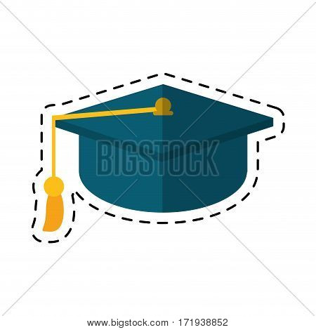 cartoon gaduation cap education symbol vector illustration eps 10