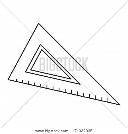 triangle ruler utensil icon thin line vector illustration eps 10