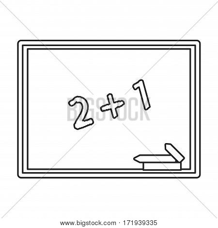 chalkboard class school chalk thin line vector illustration eps 10