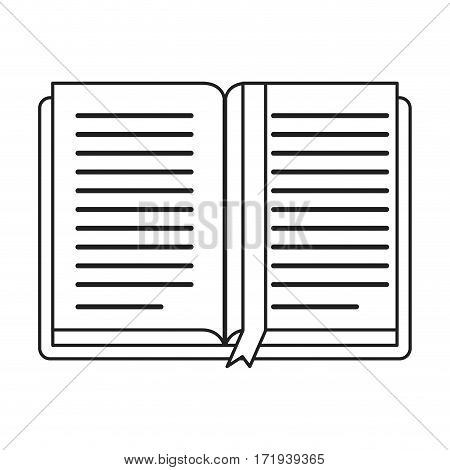 open book school learning library thin line vector illustration eps 10