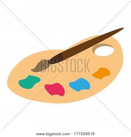palette color paint brush vector illustration eps 10