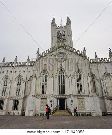 View Of Saint Paul Cathedral Of Kolkata, India