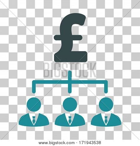 Pound Banker Links vector pictogram. Illustration style is a flat iconic bicolor soft blue symbol on a transparent background.